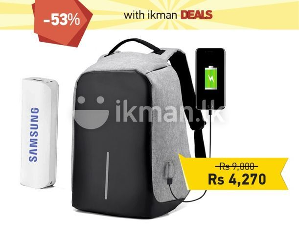 Bags & Luggage : Anti-Theft Backpack with Charging Port | Colombo 2 | ikman