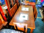 Teak Dinning table with 6 chairs--6x3--TDW1610