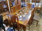 Teak Dinning table & chairs--6x3--TD1604