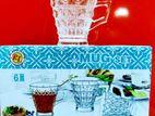 Glass Cup Gift Set 6pcs