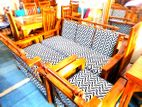Teak Sofa Set 321 with Stool--TSS1005