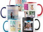 inner sublimation mug with printing valentine