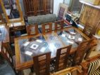 Teak Dinning table & 8 Chairs--7x3.5--TD2301