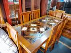 Teak Dinning table & chairs--6x3--TDT0001