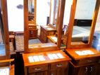 Teak Dressing Table with Stool--Tdt1314