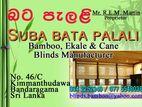 Bata palali , bamboo blinds