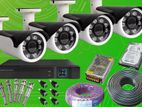 CCTV 2.4Mp 4 Camera & 4Ch DVR with Full Set