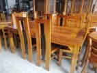 Multi wood dining table with 6 chairs 6x3 - abc1405