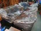 Two Tone Leather & Fabric Sofa (311)- Ttfs427