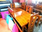 Wooden top Teak dining table with 6 chairs 6x3 - Wtwc22303