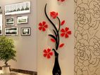 3D Vase Wall Sticker