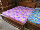Teak Bed & Flexiform Mattress--5x6--TF1214