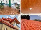 PVC Ceiling, Vinyl Flooring, Roofing, Gutter