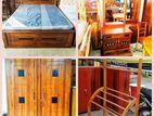 Teak Queen size bedroom set - tqbs405