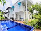 Swiming Pool With 02 Story House & 20 P Sale At Thalawathugoda