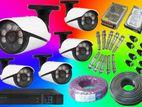 24 Hour VU 2.4Mp CCTV 4 Camera Full Set (Sony-Taiwan)
