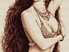 Handmade Cross Stitch Design of Shakira