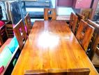 Teak dining table with 6 chairs 6x3 - Tdtc2626