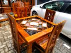 Teak dining table with 4 chairs 3x3 - Tdtwc1905