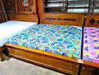 Teak Bed Arpico Hybrid Mattress--6x6--Ta1818