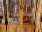 Teak Two door display cupboard 4x6 - Ttdc1953