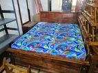 Teak Bed with Arpico Hybrid Mattress (5x6)- TBHM421