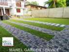 GARDEN GRASS INTERLOCK LANDSCAPING DESIGN