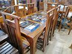 Teak Dinning table & chairs--6x3--TD1603