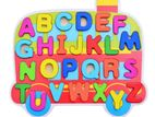 Wooden Bus Alphabet Letter Educational Toy Set
