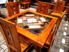 Teak Dinning table with 4 chairs - Tdtwc2521