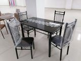Glass Dining table + 4 chair