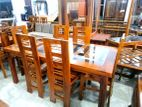 Teak dining table with 6 chairs 6x3 - ttwc1306