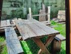RUSTIC RAILWAY TIMBER TABLES
