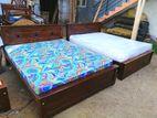 Teak Bed & Arpico Hybrid Mattress--5x6--TBA1402