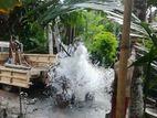 TUBE WELLS rock drilling. නලළිං ඉදිකිරීම