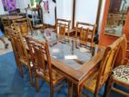 Teak dining table with 6 chairs - TWC1004