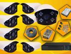 CCTV 5MP 8 Camera with Full Set 8CH DVR, Hard, Jack, Cable