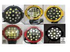 "Vehicle LED Spot Light/LED Fog Lamp 12 V/24 v Dia:6""-Black/red/yellow"