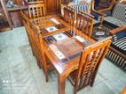Depo teak dining table with 6 chairs 6x3 - tdtc306