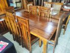 Depo teak dining table with 6 chairs - dtdc01000