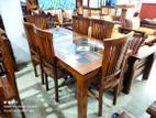 Depo teak dining table with 6 chairs - dtdc307