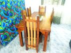 Depo teak dining table with 6 chairs - tdtc0407