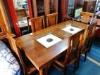Teak dining table with 6 chairs 6x3 - abc1406