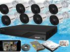 DCP 2 Megapixel Full HD 1,080P AHD CCTV 8 Camera System