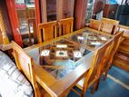 Wooden Top Dinning Table & Chairs-6ftx3ft-GTD907