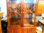 Teak 2 door display cupboard 4x6 - tdc1104
