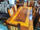 Multi wood dining table with 6 chairs - mwdt00026