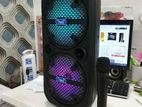 ND F68 Bluetooth Speaker With Wireless Microphone