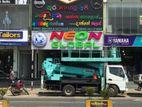 Neon board,Led sign,Sideboards,Backlitsign,Stainless Steel Backlit Signs