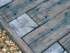 railway timber decking and path